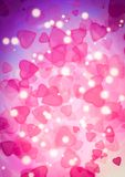 Abstract heart pink color bokeh wallpaper Royalty Free Stock Photos