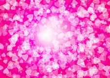 Abstract heart pink color bokeh wallpaper Royalty Free Stock Photography