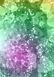 Abstract heart pink green purple colorful bokeh wallpaper Royalty Free Stock Images