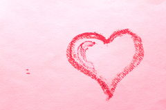 Abstract heart on a pink sheet of paper. Royalty Free Stock Images