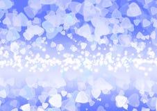 Abstract heart purple color bokeh wallpaper Stock Photo