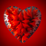Abstract heart in red Royalty Free Stock Photo
