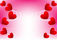 Abstract  heart red for Valentine Card  Design Royalty Free Stock Photos
