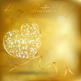 Abstract heart from ribbon. Valentine\\\'s day greeting card with abstract heart from ribbon. Vector eps10 illustration Stock Photo