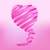 Abstract heart from ribbon. Royalty Free Stock Image