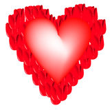 Abstract heart shape Royalty Free Stock Images