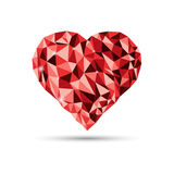 Abstract heart shape background Royalty Free Stock Images