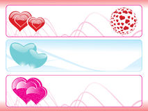 Abstract heart shape banner Royalty Free Stock Photo
