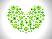 Abstract heart shape clover Stock Photo