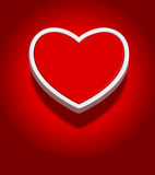 Abstract heart shape 3d background Royalty Free Stock Photos