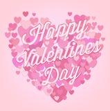 Abstract heart shape with  inscription Happy Valen Royalty Free Stock Photography
