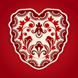 Abstract heart shape with ornament Royalty Free Stock Photos