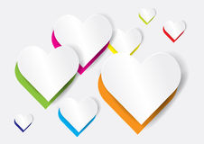 Abstract heart shape - vector Stock Photos