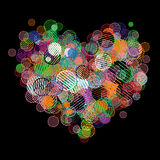 Abstract heart shape for your design Stock Photo