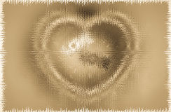 Abstract heart-shaped on old brown paper background Stock Image