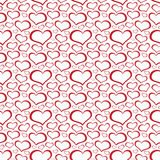 Abstract heart shaped seamless wallpaper pattern Stock Photography