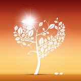 Abstract Heart Shaped Tree Illustration Stock Photo