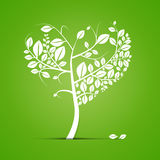 Abstract Heart Shaped Tree Illustration Stock Image
