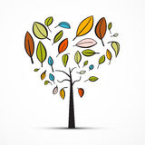 Abstract Heart Shaped Tree. On White Background Royalty Free Stock Photos