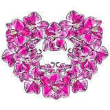 Abstract heart sign made from Phalaenopsis orchid flowers Royalty Free Stock Photography