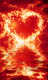 Abstract heart of sparks Royalty Free Stock Photography
