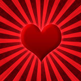Abstract heart starburst Stock Image