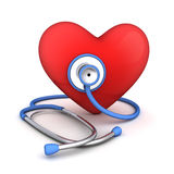 Abstract heart and stethoscope Royalty Free Stock Photography