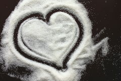 Abstract heart from sugar grains Stock Images