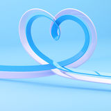 Abstract heart symbol made of ribbon Stock Photography