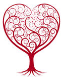 Abstract heart tree Stock Images