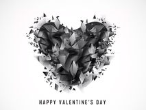 Abstract heart for Valentine's Day celebration. Royalty Free Stock Images