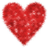 Abstract Heart Valentines Day Red Isolated Royalty Free Stock Photos