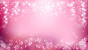 Abstract heart valentines with pastel background. Abstract heart valentines background contains heart flare and light string such as soft pink,white and pastel Royalty Free Stock Image