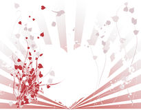Abstract Heart and Vine Background stock illustration
