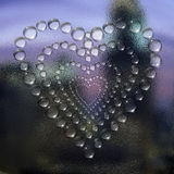 Abstract heart water drops Royalty Free Stock Photography
