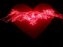 Abstract heart wings Royalty Free Stock Photos
