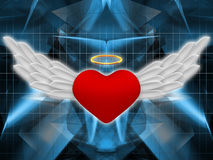 Abstract heart with wings Stock Photography
