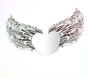 Abstract heart with wings. Vector, EPS 10. Abstract heart with wings. Valentine's day background Stock Photo