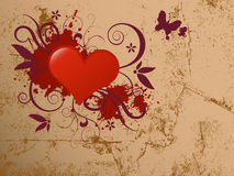 Abstract Heart With Grunge Design. Stock Image