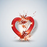 Abstract hearth love background Stock Images