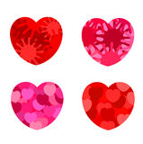 Abstract hearts Stock Images