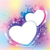 Abstract with hearts Royalty Free Stock Images