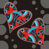 Abstract Hearts Royalty Free Stock Photography
