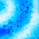 Abstract hearts background Stock Image
