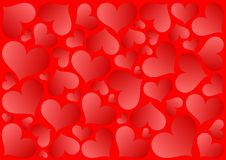Abstract hearts background Royalty Free Stock Image