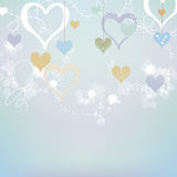 Abstract hearts Royalty Free Stock Image