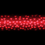 Abstract hearts background on dark red background Stock Image