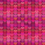 Abstract Hearts Background in Rich Shades of Pink Stock Photo