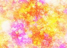 Abstract hearts backgrounds. Abstract dreamy colorful hearts backgrounds Royalty Free Stock Photo