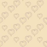 Abstract Hearts on a beige background Royalty Free Stock Photo